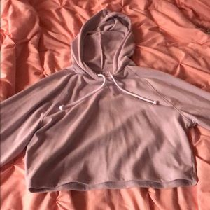 Light Purple Cropped Hoodie